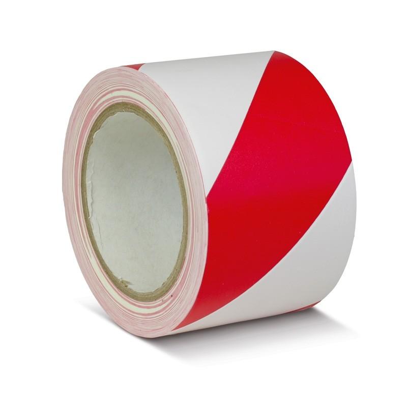 Podlahová páska štandard výstražná červeno / biela