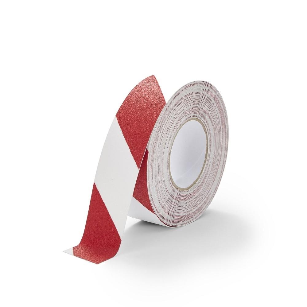 Protišmyková páska výstražná červeno biela TeSe