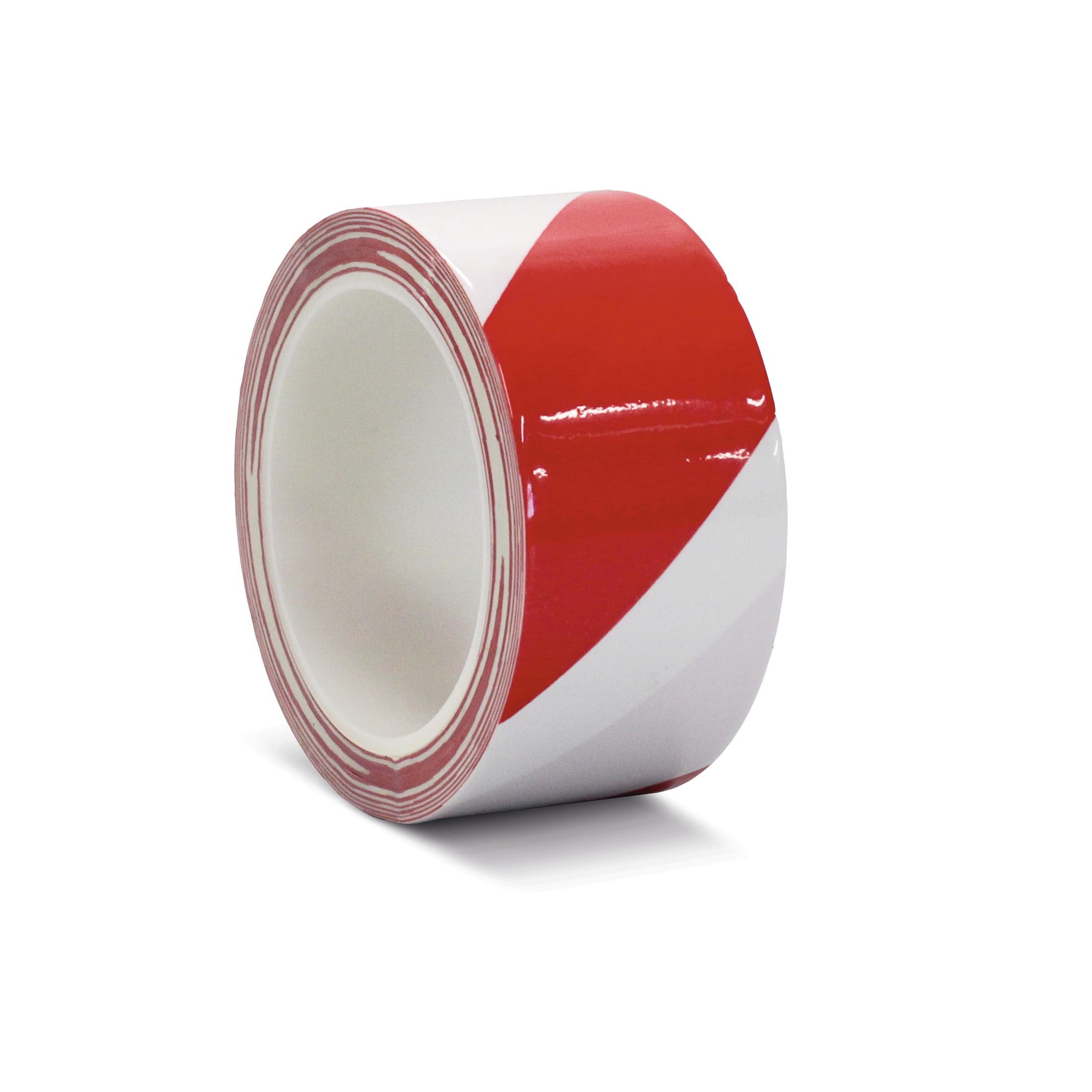 Podlahová páska štandard laminovaná výstražná červeno / biela