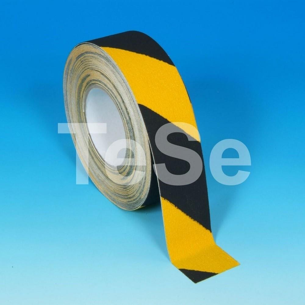 Protišmyková páska štandardné zrno výstražná žlto/čierna