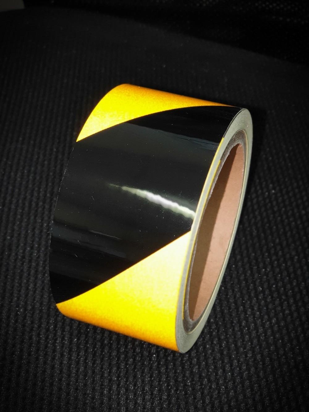 Reflexná páska výstražná žlto čierna