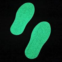 Protišmyková nálepka topánka svietiaca v tme 300mm x 120mm