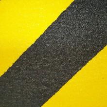 Protišmyková páska hrubé zrno žlto / čierna