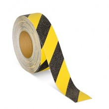 Protišmyková páska štandardné zrno výstražná žlto / čierna